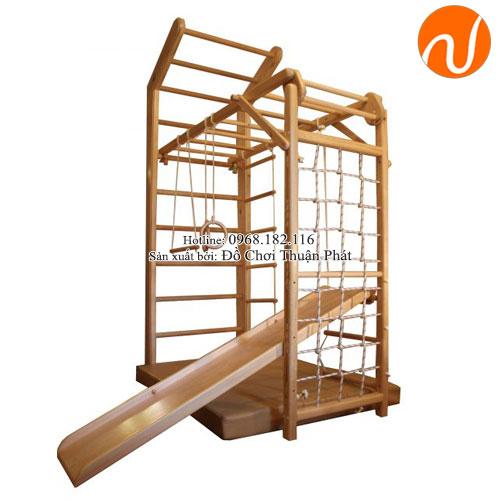 Bộ vận động thể chất đa năng bằng gỗ cho trẻ em