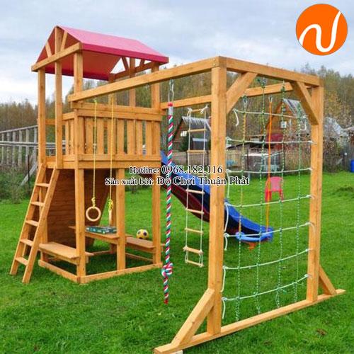 Bộ nhà khối đa năng bằng gỗ cho bé 2 - 5 tuổi
