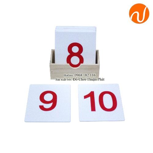 Bộ chữ số từ 1 đến 10 của cô UDLQ-3401