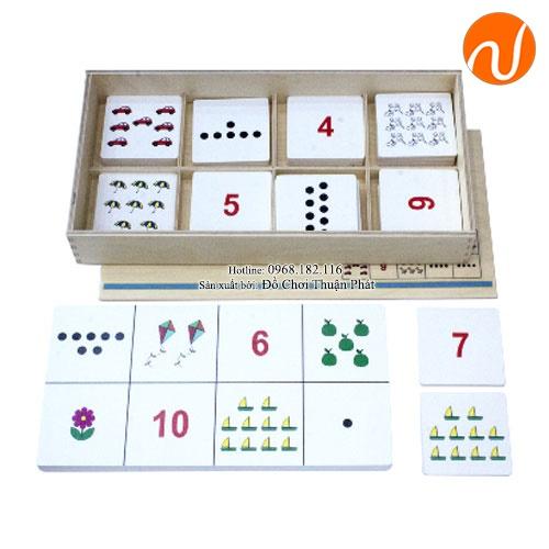 Giáo cụ Montessori bộ đếm số và lượng theo chủ đề UDLQ-5604