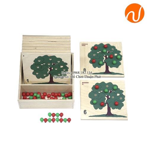 Giáo cụ montessori đếm số với số lượng tương ứng cây táo UDLQ-5615