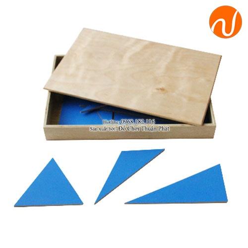 Giáo cụ Montessori ghép hình tam giác tạo thành các hình học khác nhau UDLQ-5602