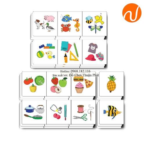 Giáo cụ Montessori tìm mối liên quan giữa các thẻ ảnh UDLQ-4515