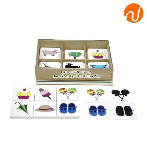 Giáo cụ montessori trò chơi nối ghép hình và bóng UDLQ-5612