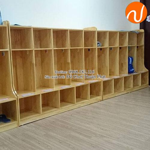 Tủ đựng đồ cá nhân kèm giày dép mầm non TP-1206-4