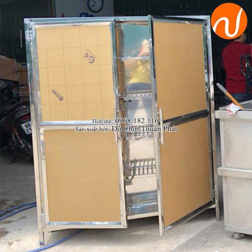 Tủ úp bát inox trường mầm non TP-4200-7