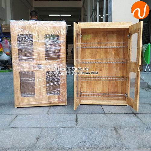 Tủ úp ca cốc khung gỗ mầm non TP-1209-3