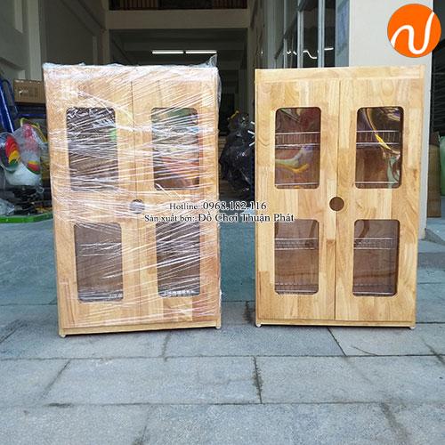 Tủ úp ca cốc khung gỗ mầm non TP-1209-4