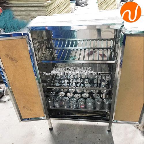 Tủ úp cốc inox cho trường mầm non TP-4201-1