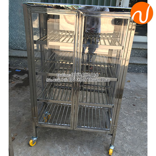 Tủ úp cốc inox cho trường mầm non TP-4201-3