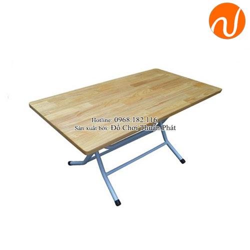 Bàn gỗ mầm non chân gấp bằng sắt TPBG-002-1