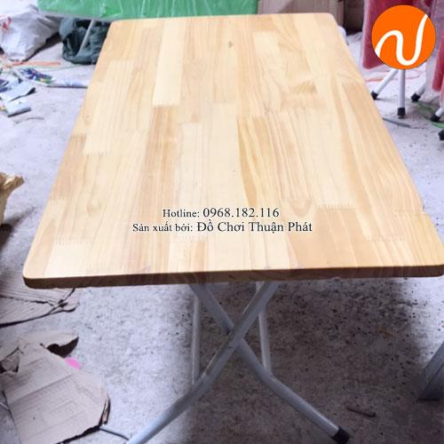 Bàn gỗ mầm non chân gấp bằng sắt TPBG-002-2