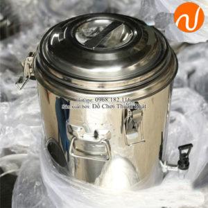 Bình ủ nước inox được thiết kế rất bền, đẹp và chắc chắn