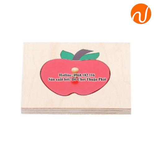 Bộ ghép hình đơn giản quả táo GC36-003