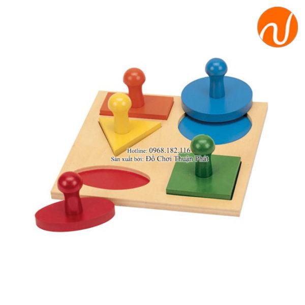 Giáo cụ bộ xếp nguyên hình GC03-033 giúp trẻ khả năng nhận biết các hình dáng, màu sắc