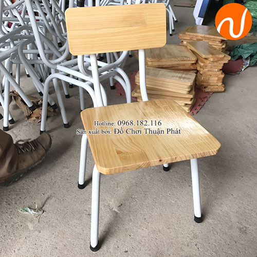 Ghế gỗ mầm non chăn sắt TP-1107-2
