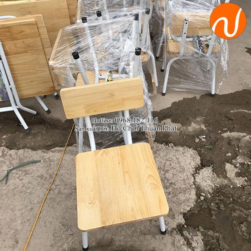 Ghế gỗ mầm non chăn sắt TP-1107-3