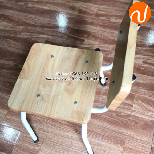 Ghế gỗ mầm non chăn sắt TP-1107-4