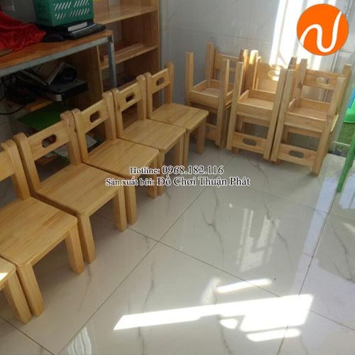 Ghế gỗ mầm non cho bé TP-1108-7