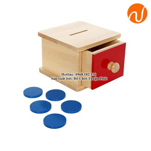 Giáo cụ hộp ngăn kéo với miếng hình tròn dẹt GC03-026 nhận thức được sự tồn tại của đối tượng