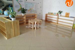 Sản xuất bàn ghế, tủ kệ cho trường mầm non tại Hà Nội
