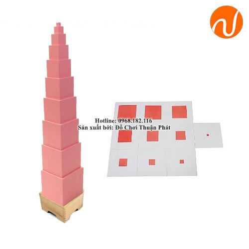 Tháp hồng, thẻ xếp hình tháp hồng (Đã bao gồm hướng dẫn) GC36-014