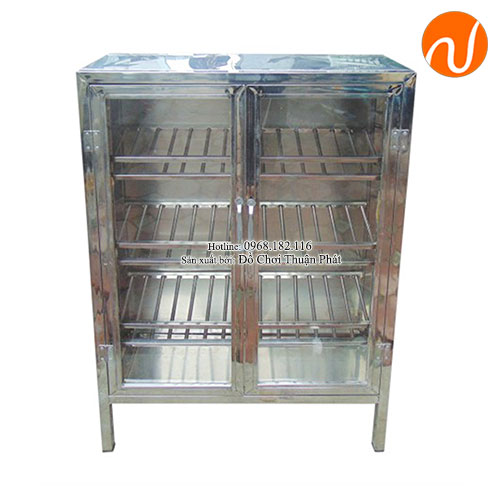 Tủ đựng bát đĩa làm bằng inox chất lượng cao cho nhà bếp