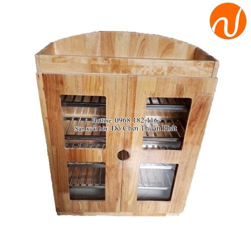 Tủ úp ca cốc khung gỗ mầm non TP-1209-1