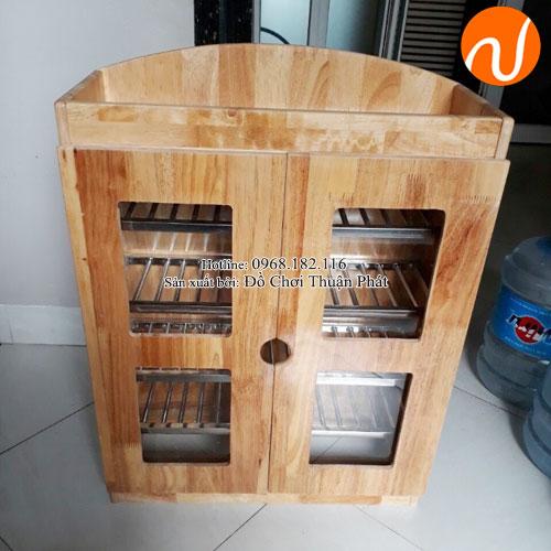 Tủ úp ca cốc khung gỗ mầm non TP-1209-2