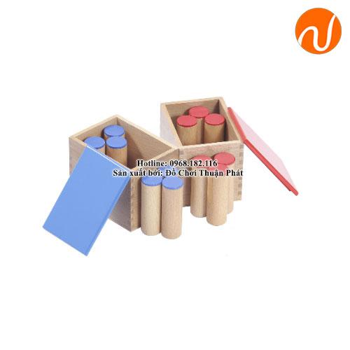 2 hộp ống tạp âm màu đỏ và màu xanh dương GC36-064