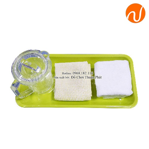 Giáo cụ bài học cách lau khô nước trên bàn GC36-503 Rèn và phát triển cơ cổ tay cho trẻ.