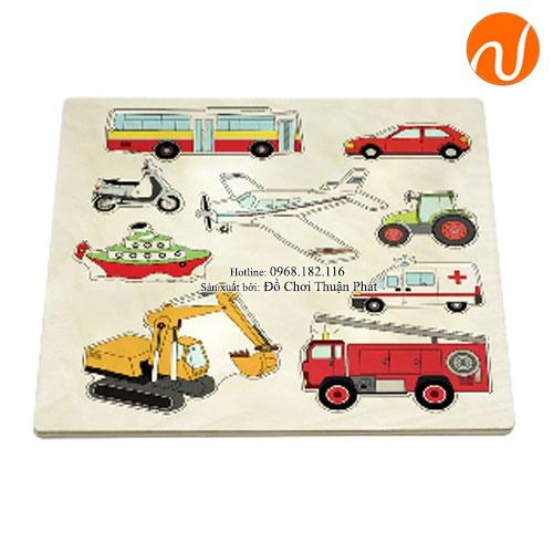 Giáo cụ montessori bộ ghép các phương tiện giao thông phức tạp UDKP-3421