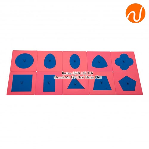 Giáo cụ bộ khung kim loại tô theo các hình (không bao gồm khay gỗ) GC36-081 giúp bé tập vẽ và tô màu