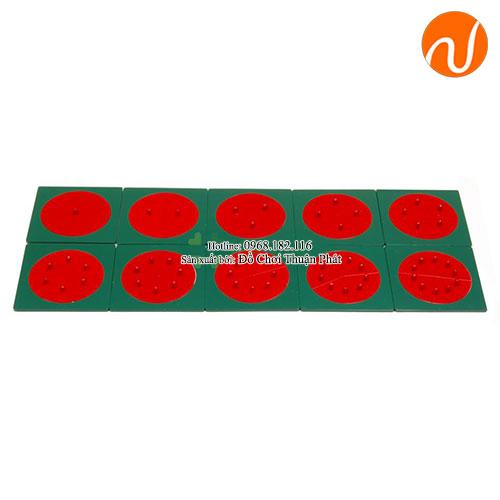 Giáo cụ montessori các khung hình tròn phân số kim loại GC36-230