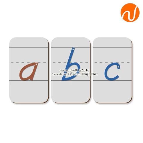 Giáo cụ các thẻ chữ cái tiếng anh riêng biệt GC36-127 giúplàm mẫu cho việc tập viết các chữ cái.