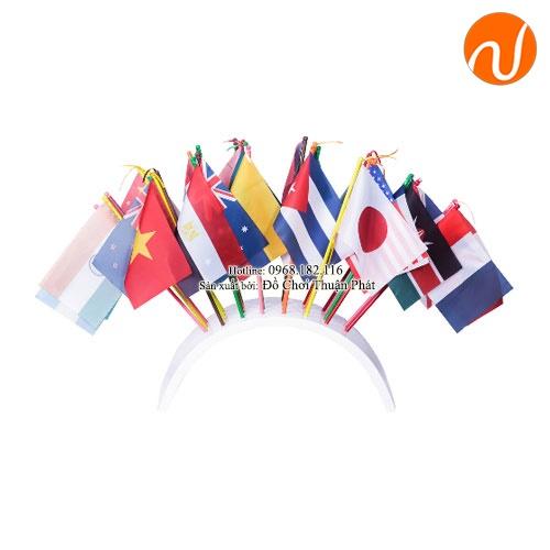 Giáo cụ cờ của các nước với đế cắm hình vòm GC36-244 giúp Ghi nhớ và hiểu ý nghĩa các biểu tượng trên cờ các quốc gia.