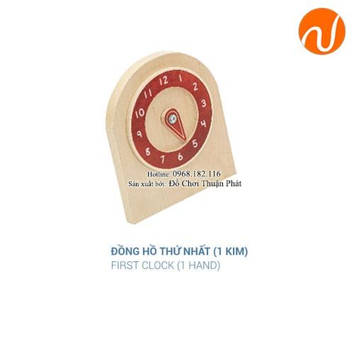 Giáo cụ đồng hồ thứ nhất 1 kim GC36-289 giúp trẻ biết chỉnh kim theo giờ đúng trong thẻ mẫu
