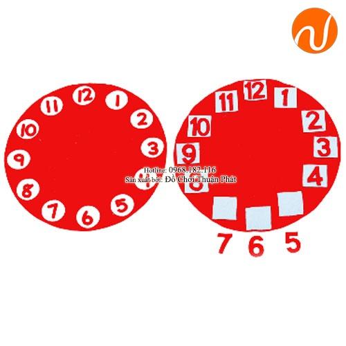 Giáo cụ montessori đồng hồ vải dạ UDKP-5609