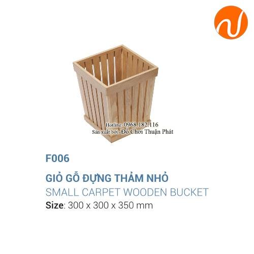 Giáo cụ montessori giỏ gỗ đựng thảm nhỏ