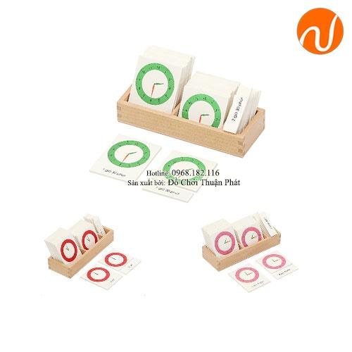 Giáo cụ 4 hộp thẻ giờ mỗi hộp 3 thẻ phần tiếng anh GC36-293 giúp trẻ nhận biết được giờ đúng qua thẻ đọc