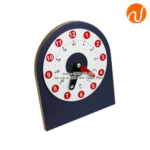 Giáo cụ montessori hướng dẫn xem đồng hồ UDKP-5608