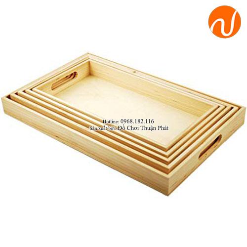 Giáo cụ montessori khay gỗ loại 5