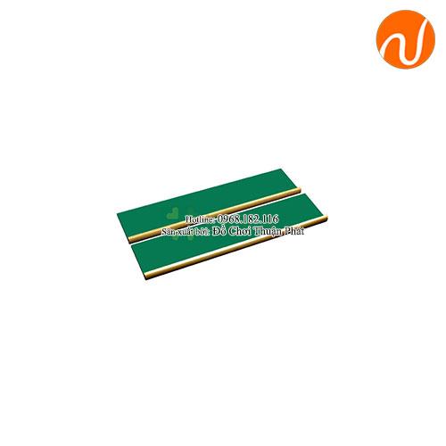 Giáo cụ montessori khay gỗ để đựng các khung hình tròn phân số kim loại GC36-231