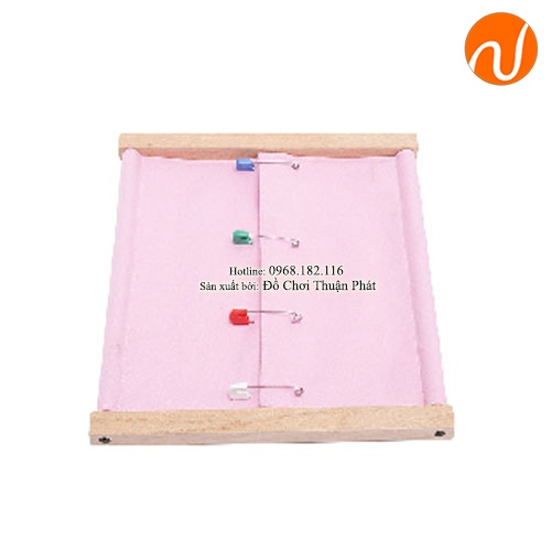 Giáo cụ montessori khung ghim băng GC36-444