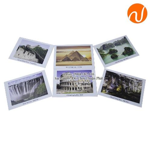 Giáo cụ montessori kỳ quan Việt Nam và thế giới UDKP-5614