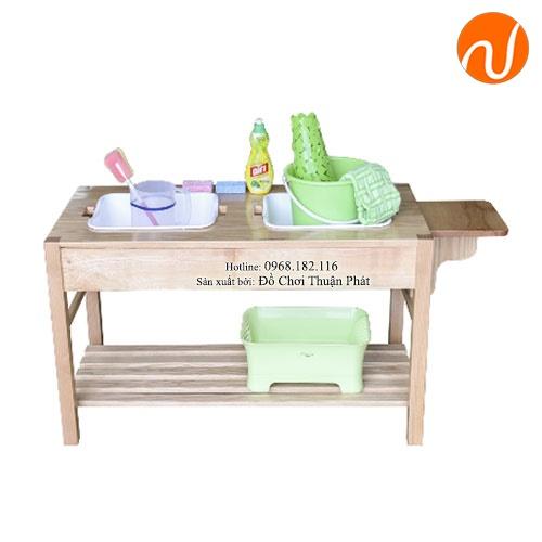 Giáo cụ montessori rửa và lau khô đĩa GC36-489