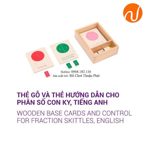 Giáo cụ montessori thẻ gỗ và thẻ hướng dẫn cho phân số con ky GC36-227