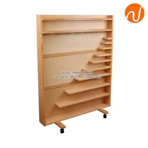 Giáo cụ montessori tủ đựng bộ hạt cườm GC36-185
