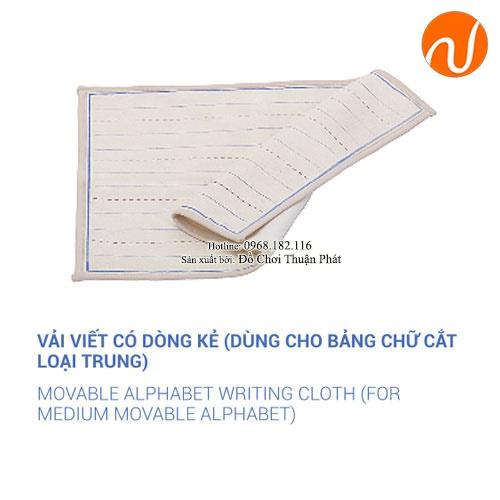 Giáo cụ vải viết có dòng kẻ dùng cho bảng chữ cắt loại trung GC36-113