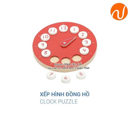 Giáo cụ xếp hình đồng hồ GC36-288 giúp bé học được cách quản lý và sắpxếpthời gian